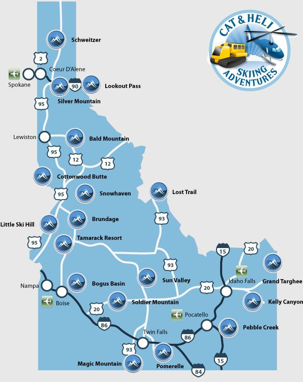 ski areas in idaho map Resorts Idaho Vacation Idaho Adventure Idaho Outdoors