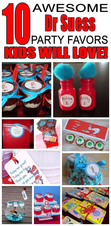 Dr Seuss Party Favor Ideas Dr Seuss Birthday Party Dr Suess Birthday Party Ideas Dr Seuss Party Favors