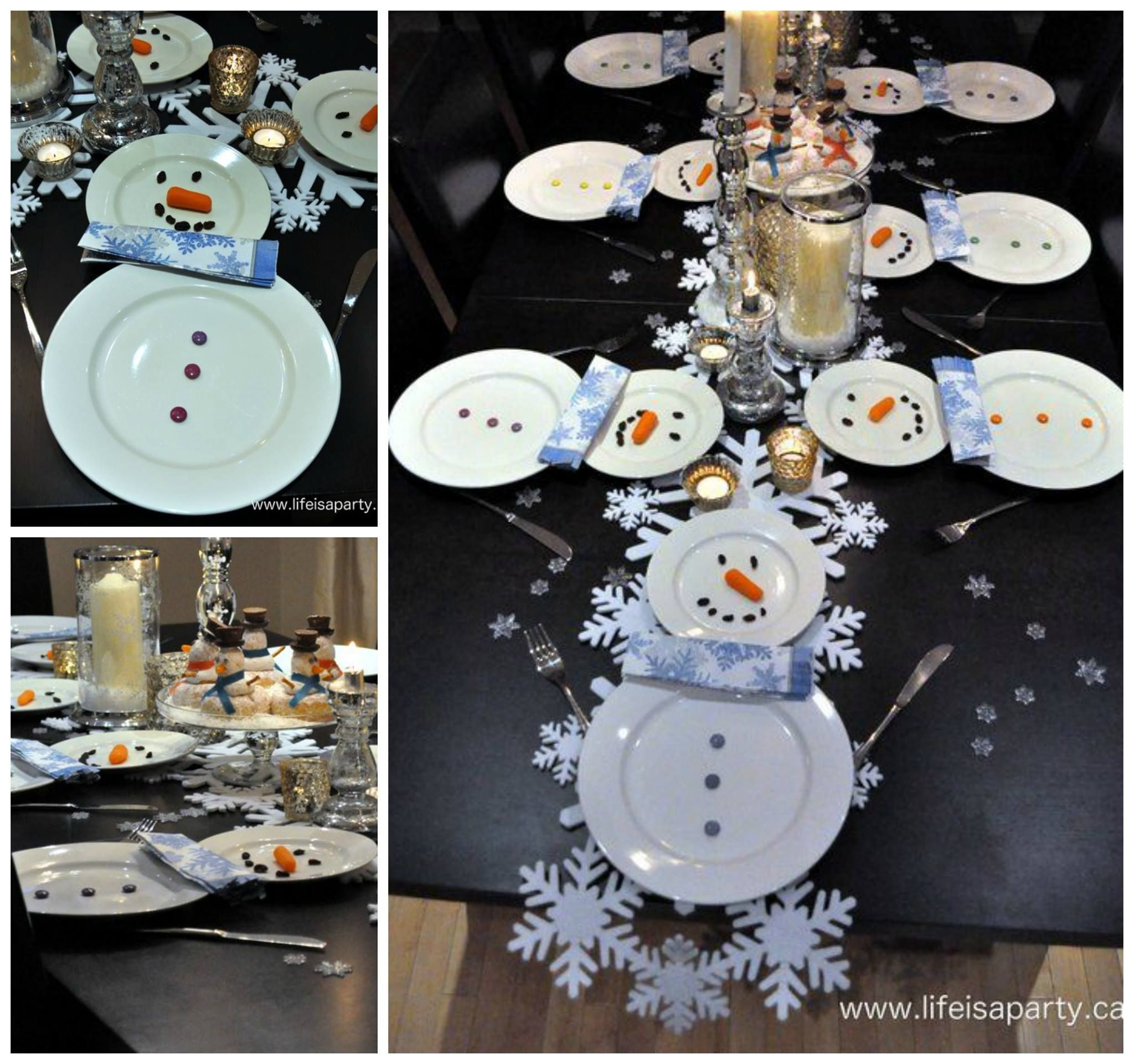 Snowman table setting for christmas dinner such a - Simple christmas table settings ...