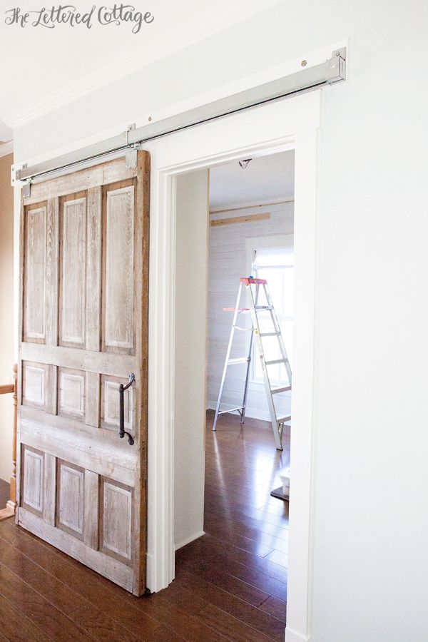Captivating Sliding Library Door | 85 Dollar Galvanized Barn Hardware   Oh My... MUST  HAVE