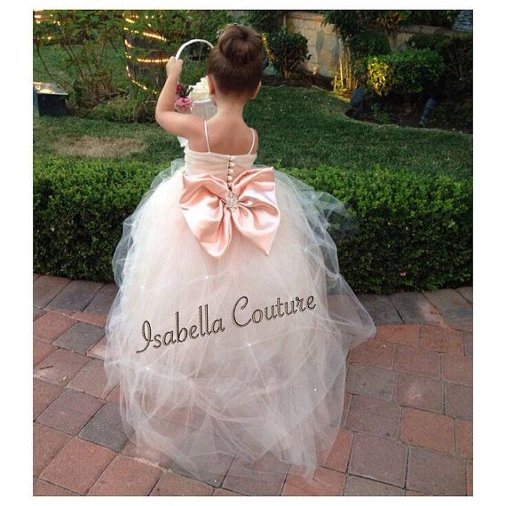 2b9d6aa318f Flower Girl Dress - Lace Dress - Girls Lace Dress - Big Bow Dress - Wedding  Dress by Isabella Couture on Etsy