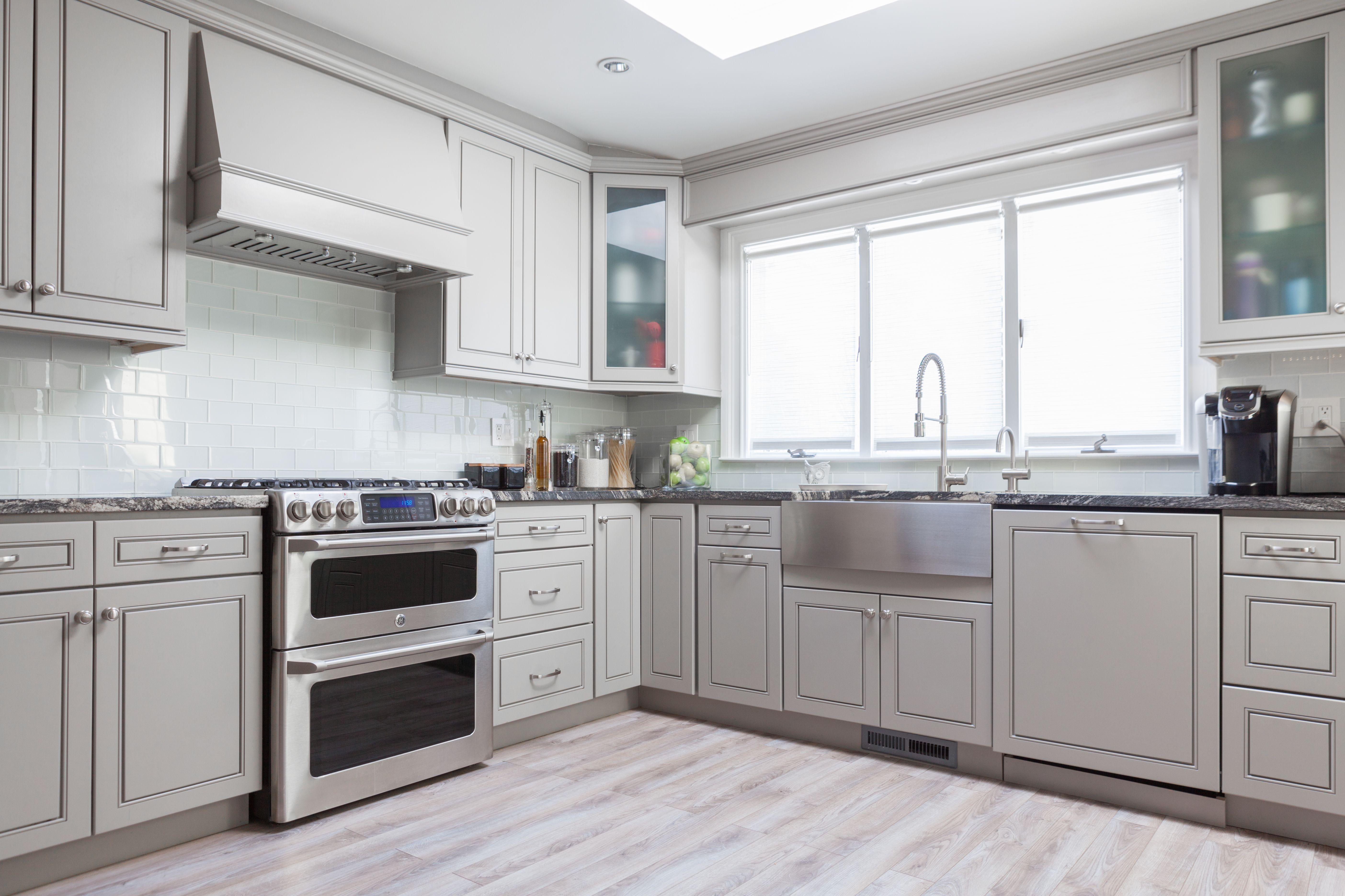 J&K Greige Maple Cabinets. Style K3