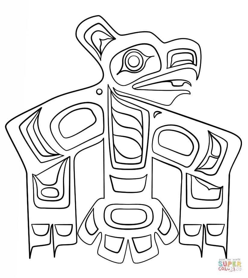 Haida Art Raven Coloring Page Free Printable Coloring Pages Haida Art Canadian Aboriginal Art Aboriginal Art