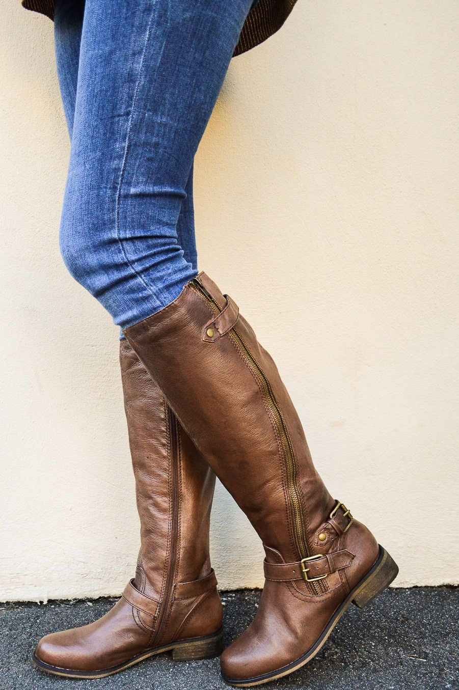 Steve Madden Synicle Brown leather riding boots | Boots