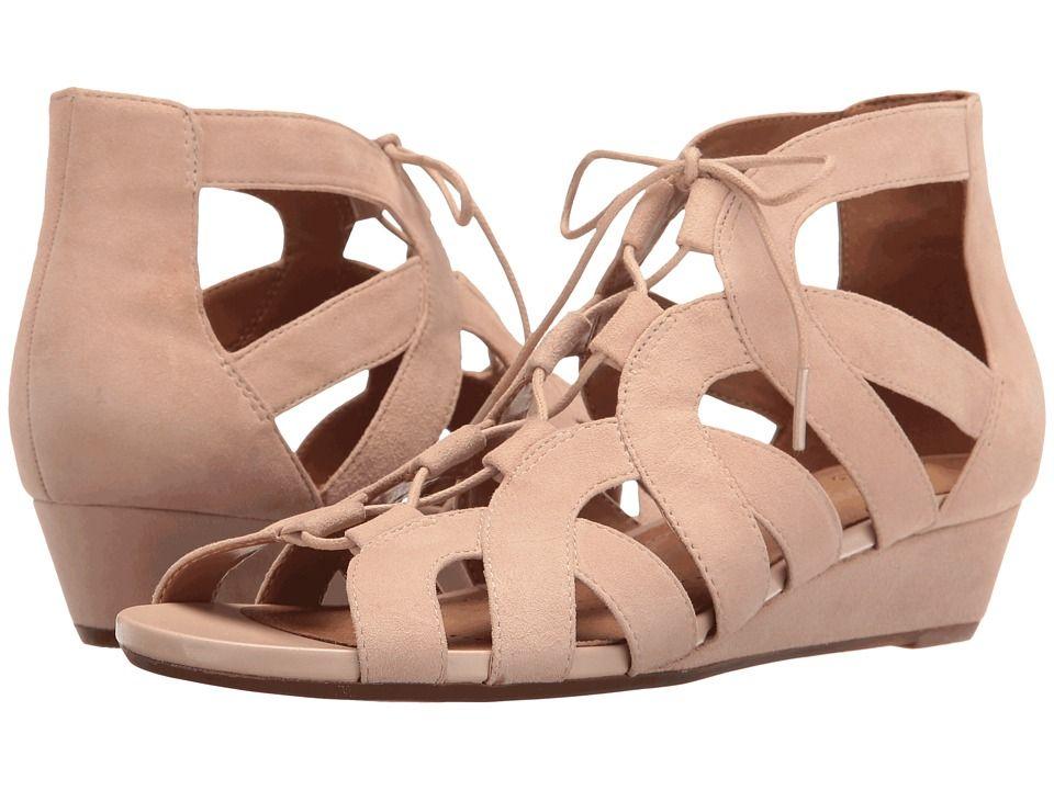CLARKS CLARKS - PARRAM LUX (NUDE SUEDE) WOMEN'S SANDALS. #clarks #shoes