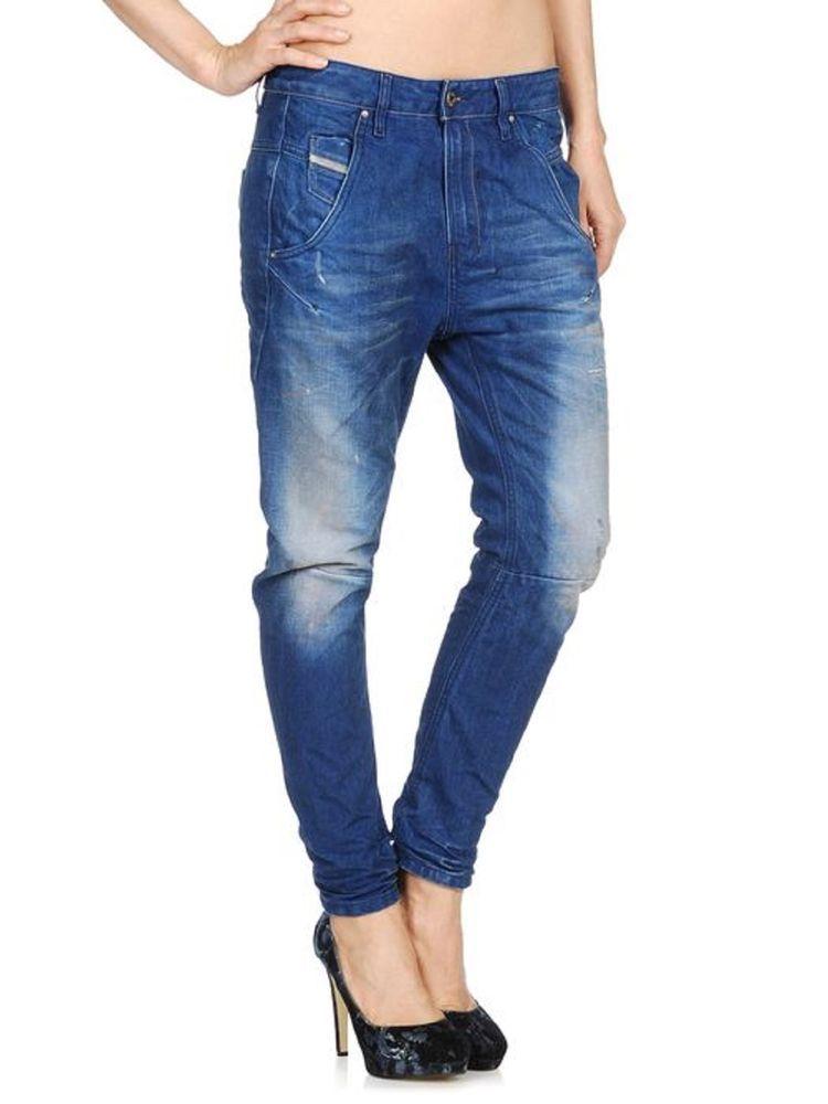 744ced92 Womens Diesel Jeans Fayza 0811P Relaxed Boyfriend Low Waist Italy W27  RRP£220