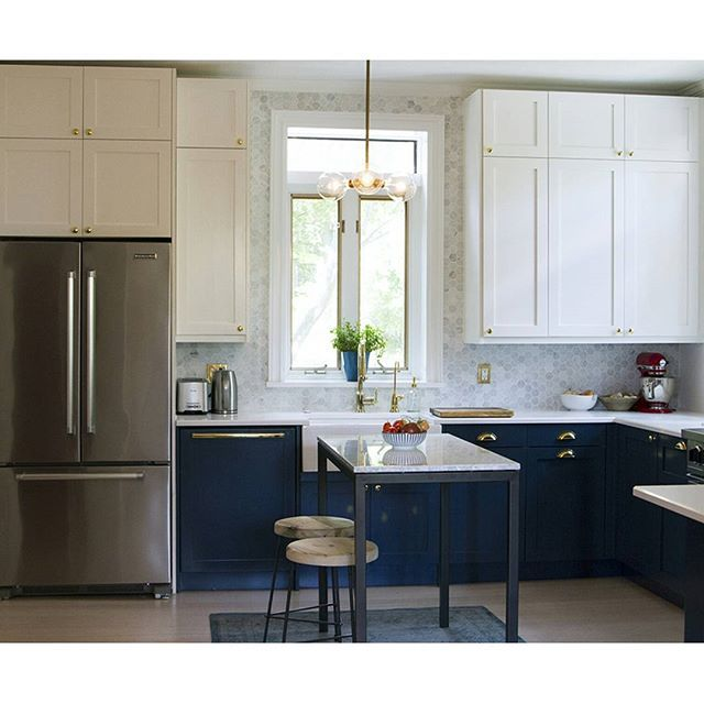 Kitchen Cabinets New York: New York DIY Shaker IKEA Kitchen In Timeless White, Navy