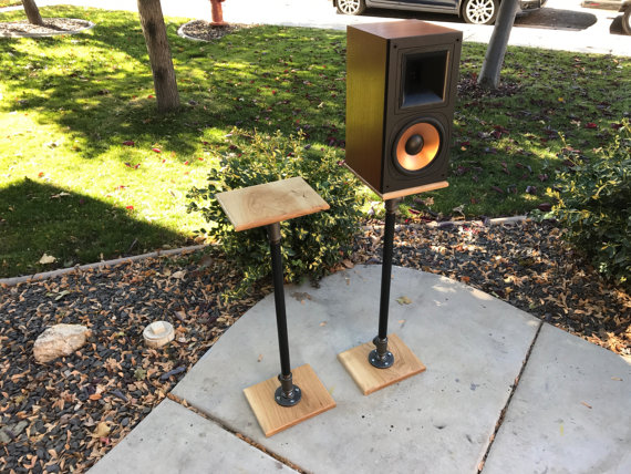 Industrial Pipe Speaker Stands For Studio Monitors Includes Two Build Much Like Our Standard Book Shelf But With Larger Fittings Power