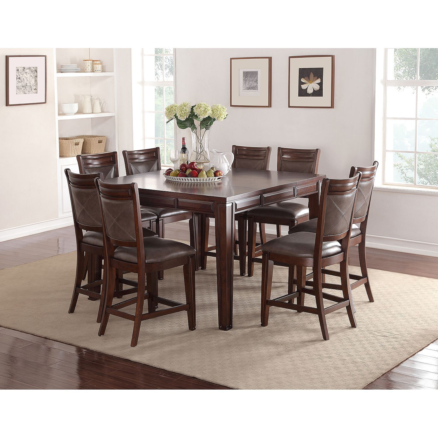 Member S Mark Audrey Counter Height Table And Chairs 9 Piece