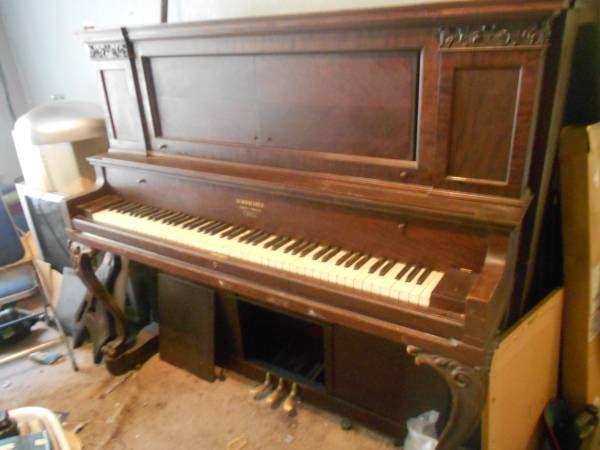 Beautiful 100 Year Old Upright Piano Rare Clawfoot Design Looks