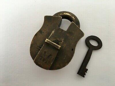 Lock Old Vintage Brass Padlock Lock With Key Rich Patina Rear Shape Collectible Ebay In 2020 Vintage Brass Brass Vintage Iron