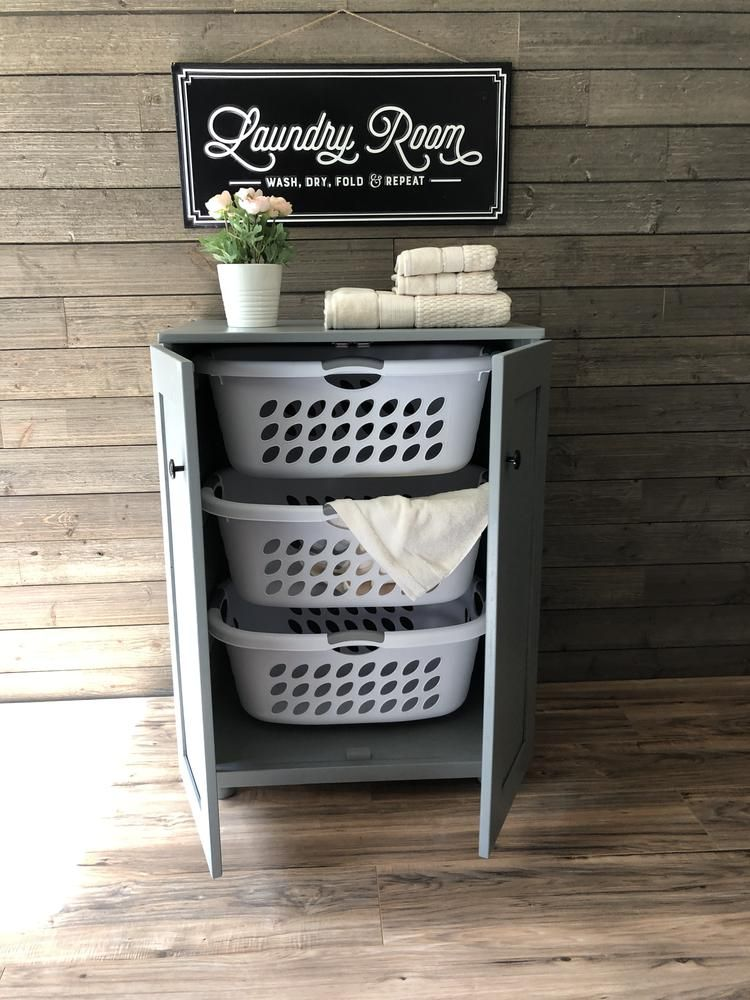 Stand Up Laundry Hamper Upright Laundry Sorter Hold 3 Laundry