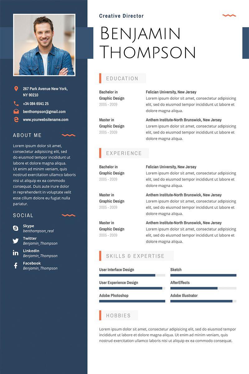 Cv Template Illustrator Resume design template