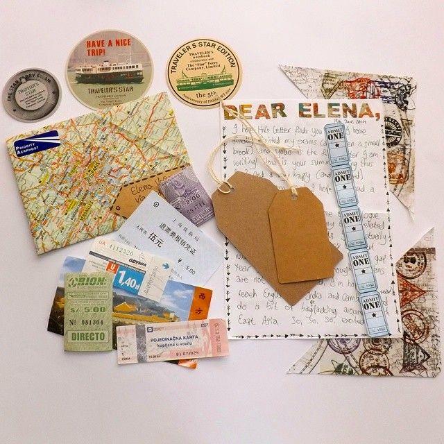 map / travel themed Penpal letter, snailmail, mail art, envelope
