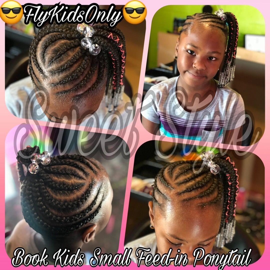 Natural Hair Braided Ponytail Kids