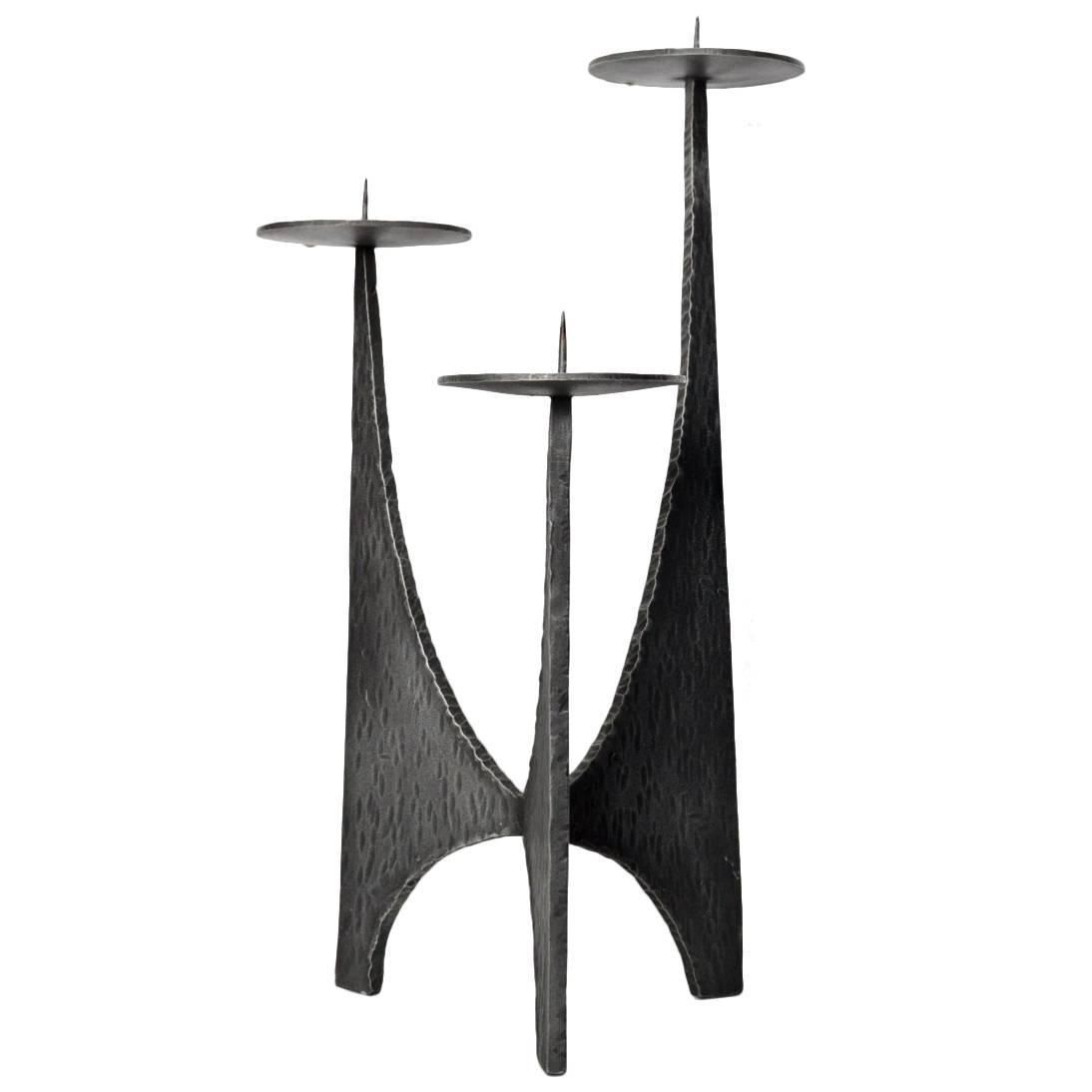 Large Candlestick Holder Brutalist Style, Germany, 1950s