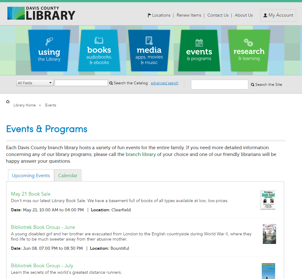 Be Sure To Check The Library S Event Page For Activities For Your Family Event Program Library Event Page