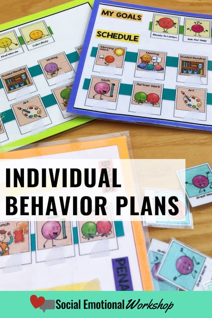 Individual behavior intervention plans for students