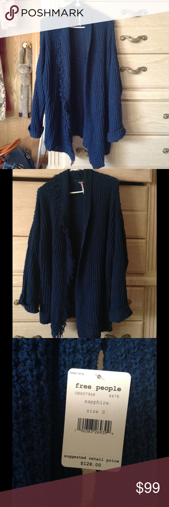 Free People cozy knit sweater Brand new, never worn. Love the blue ...