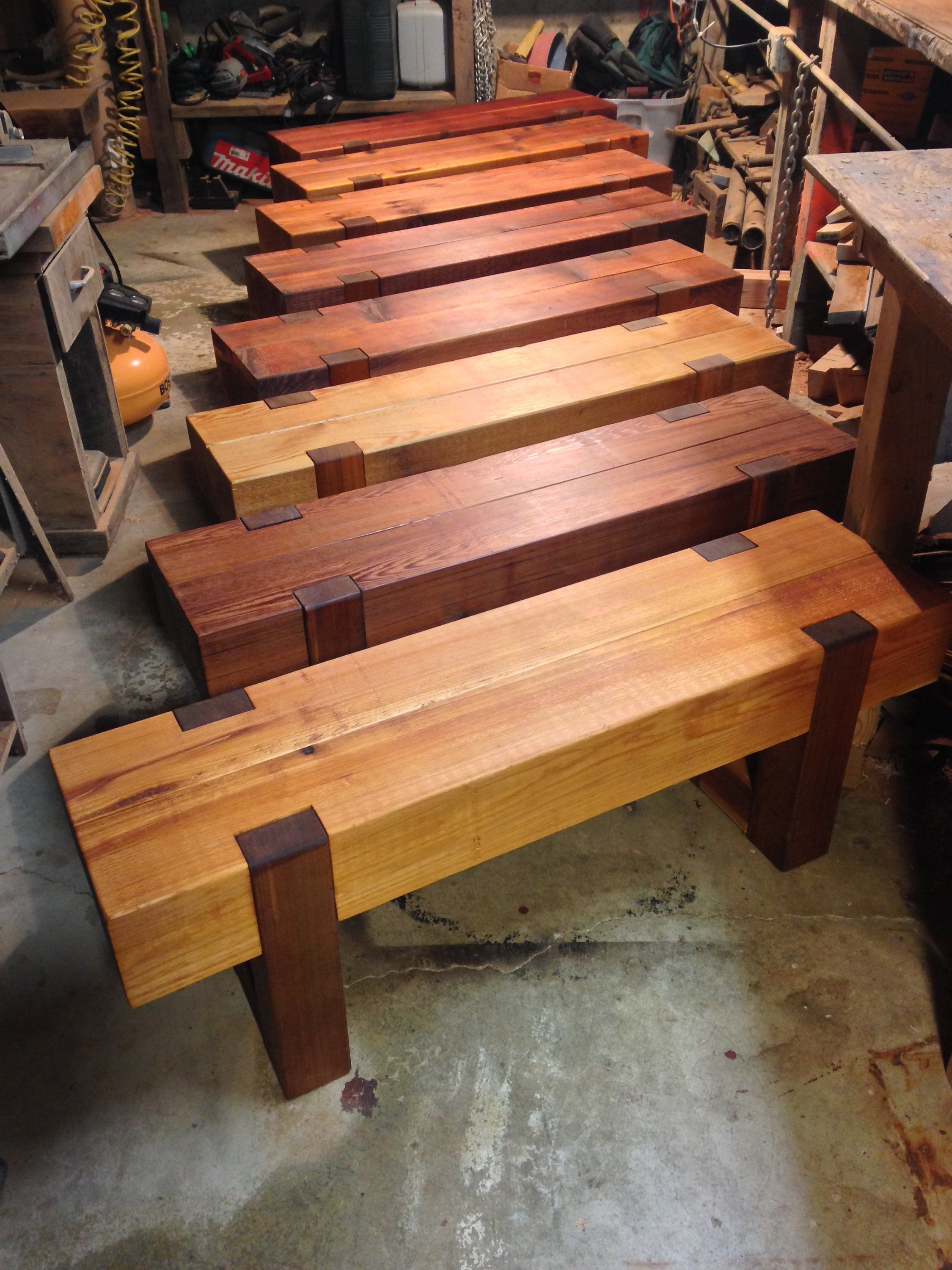 Wood Bench Outdoor Modern Rustic Garden Patio Entryway Dining Farmhouse In 2020 Wood Bench Outdoor Modern Wood Bench Wood Bench