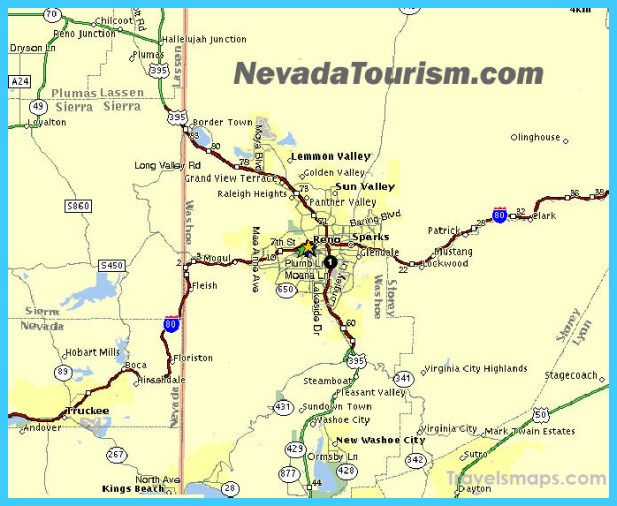 Awesome Map Of Reno Nevada Travelsmaps Pinterest: Reno Nevada Map Usa At Usa Maps
