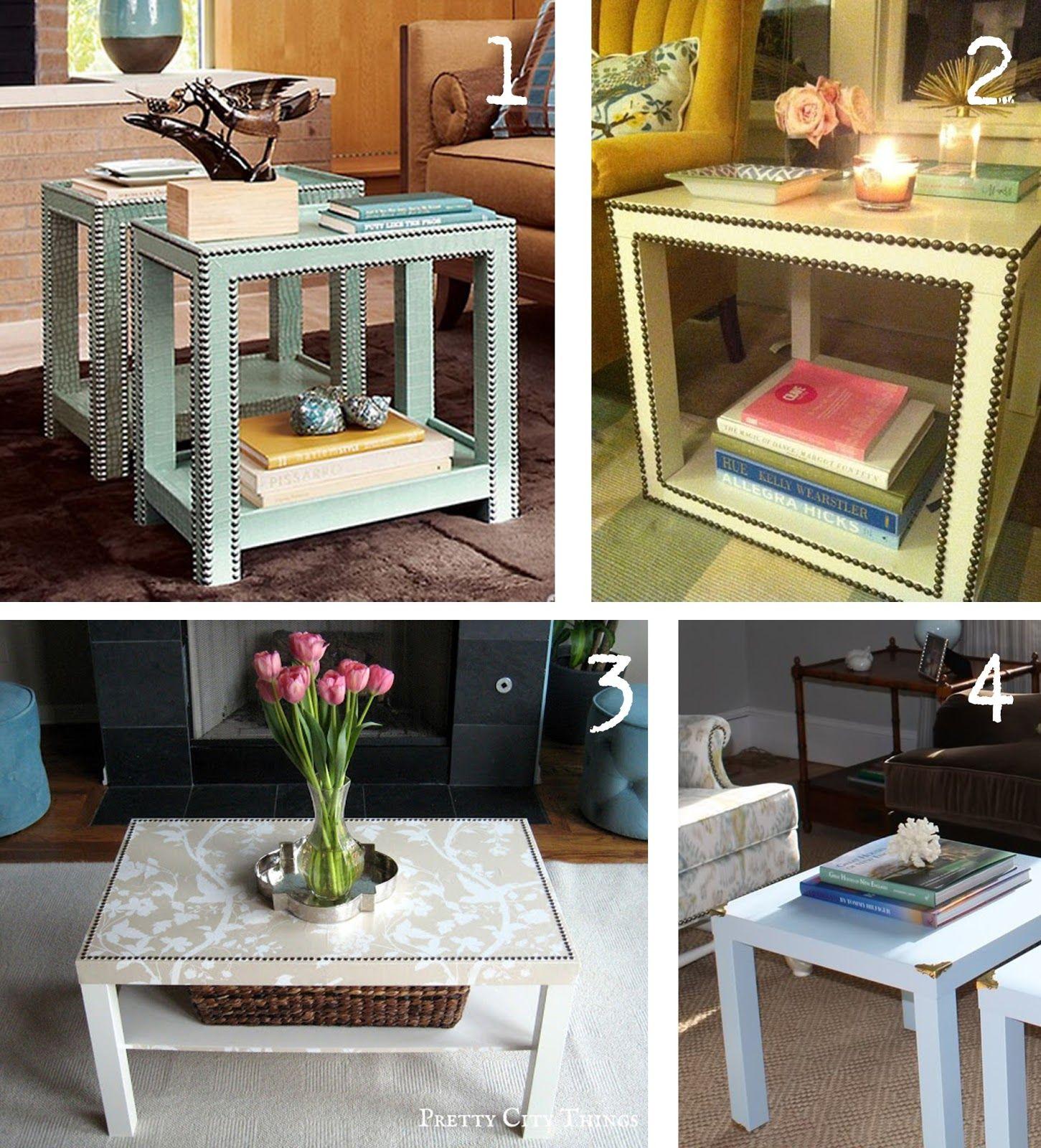 Ikea Hacker Decora Tu Mesa Lack Decoraci N Pinterest  # Customizar Muebles