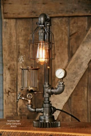 Steampunk Industrial Steam Gauge Lamp Oiler 1429 Steampunk Table Lamp Steampunk Lighting Steampunk Lamp