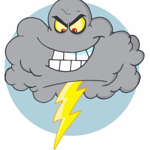Angry Cartoon Black Cloud With Lightning Angry Cartoon Funny Baby Cartoon Cartoon Clouds