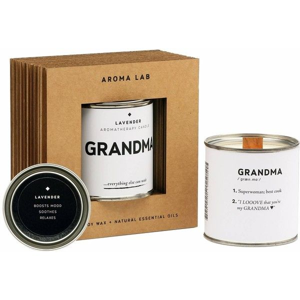 Aroma Lab - Scented candle with lavender - Gift for GRANDMA (£31) ❤ liked on Polyvore featuring home, home decor, candles & candleholders, handmade candles, lavender aromatherapy candles, lavender scented candles, wooden wick candles and aromatherapy candles