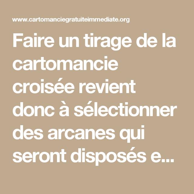 Ceci est faisable sur le site cartomancie croisée gratuite immédiate –  Tirage ... c11c46197ccc