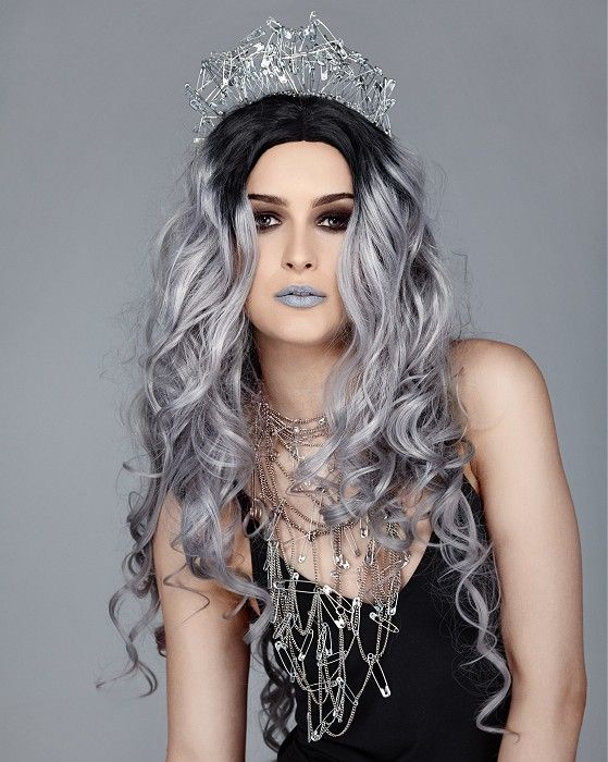 Long Grey Hairstyles Amazing Crazy Color Long Grey Hairstyles  Scene Emo Goth Or Unusual