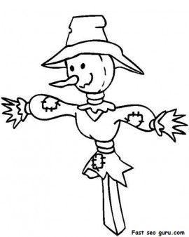 Printable Thanksgiving Scarecrow Coloring Page Printable Coloring Pages For Ki Scarecrow Coloring Pages Free Printable Fall Coloring Pages Scarecrow Crafts