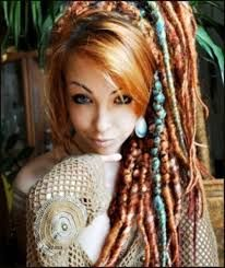 Image Result For Dread Hairstyles White Women With Beads