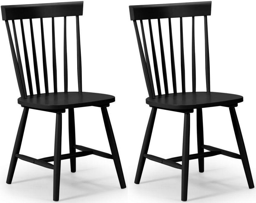Julian Bowen Torino Lunar Black Dining Chair Pair In 2020