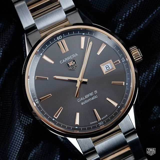 Meet the TAG Heuer Carrera Calibre 5 Rose Gold - true elegance in action!  Designed to suit both men and women. 78a55227e