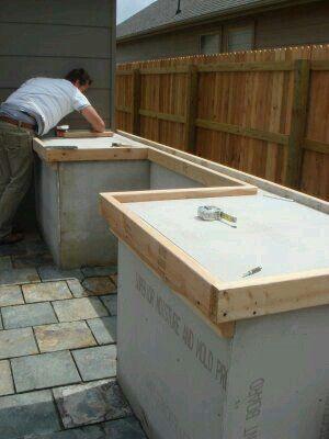Pin By Cornelia Marais On Building Build Outdoor Kitchen Outdoor Kitchen Cabinets Outdoor Kitchen Design