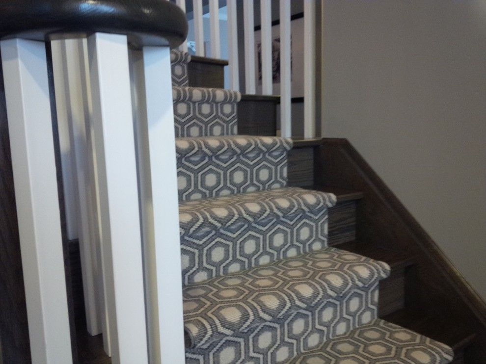 Captivating Modern Stair Runner Staircase Traditional With Animal Print Carpet Beige
