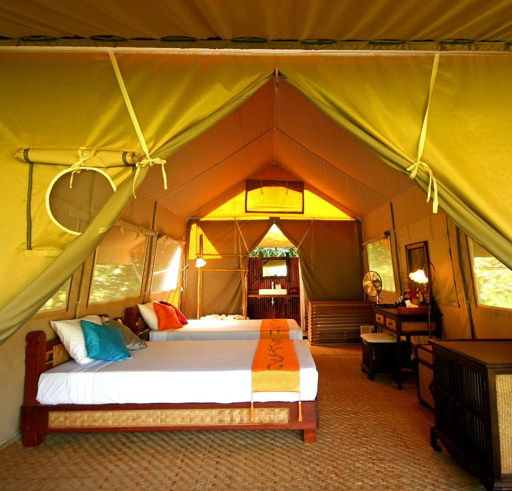 Safari Tent River Camp In Thailand Luxury Tents Tent Room Luxury Camping