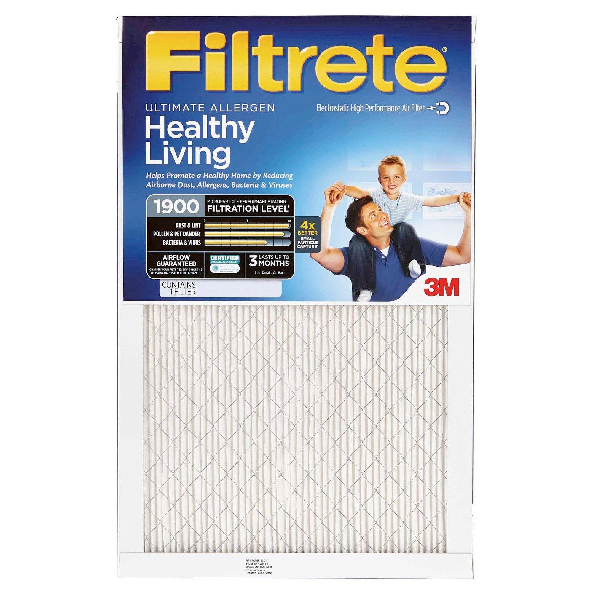 Filtrete Ultimate Allergen 14X24, Air Filter, White Best
