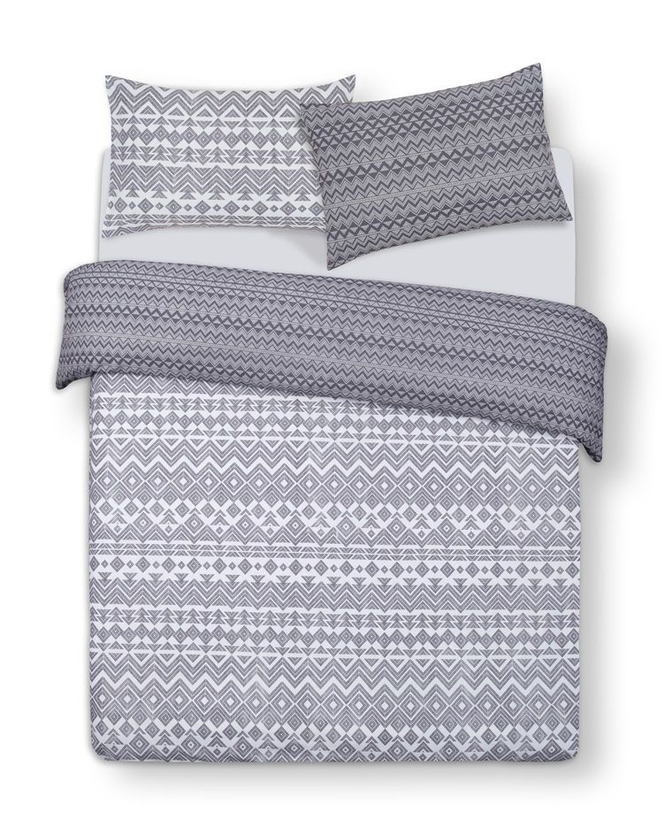 Primark Grey Print King Size Duvet Cover