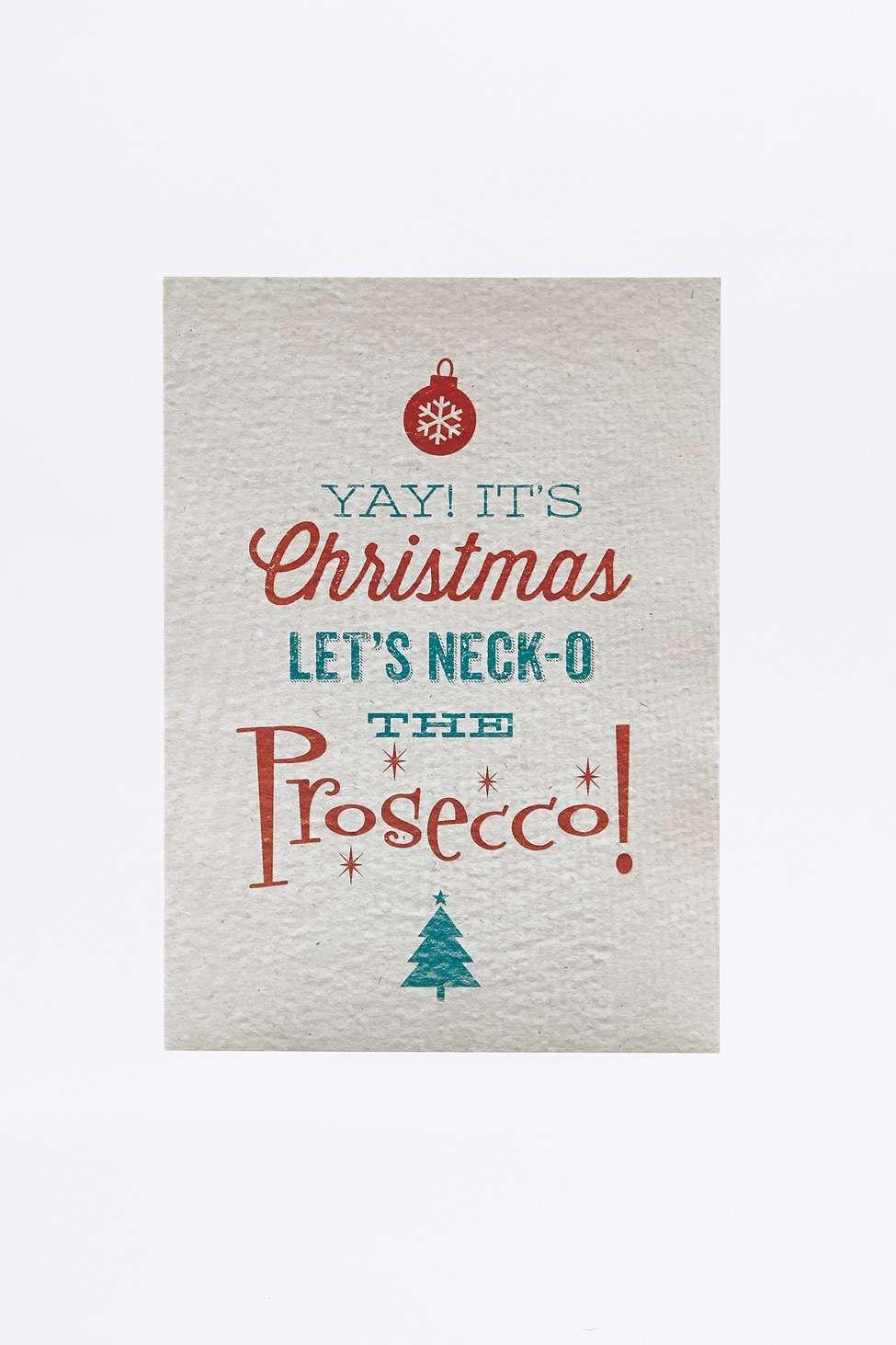 Prosecco Christmas Card