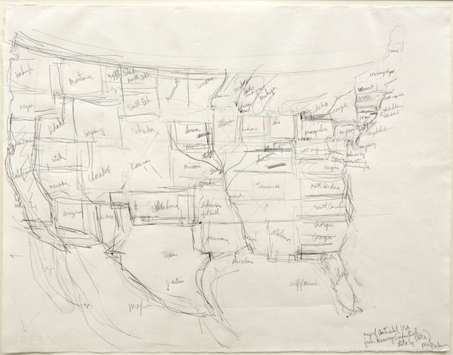 Famous Artists Asked To Draw A Map Of The Us From Memory Maps