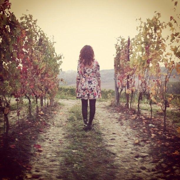 in love with Monferrato.  #autumn #portrait #instagram #photography #dress