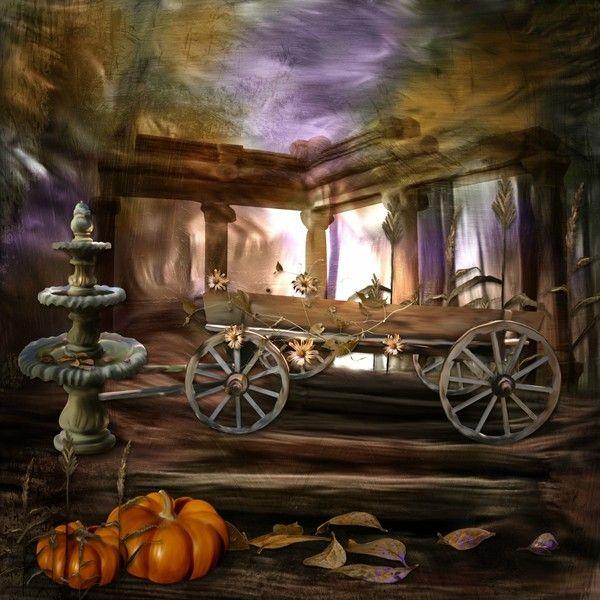 Automne, Halloween, arrière-plan - Hintergrund Halloween