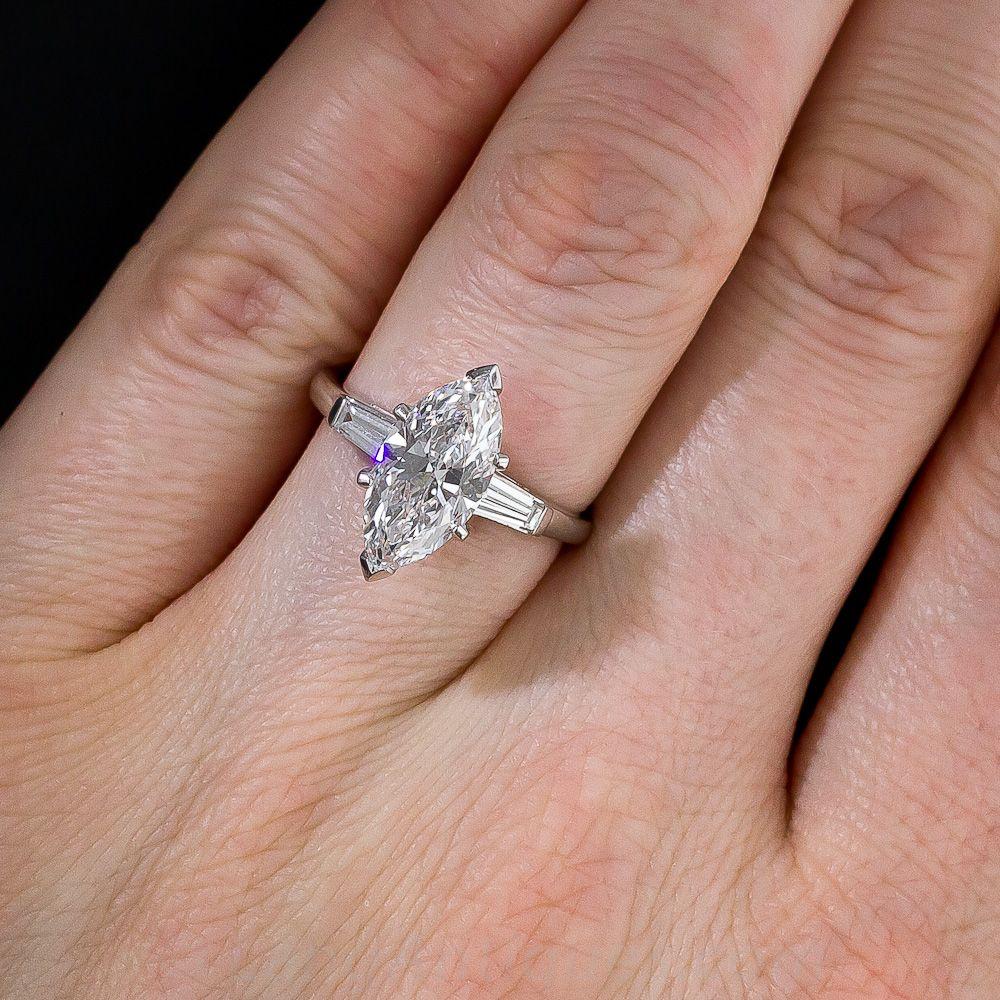 2 20 Carat D Internally Flawless Marquise Diamond Ring 10 91 195 Lang Antiques Marquise Diamond Diamond Ring Marquise Diamond Ring