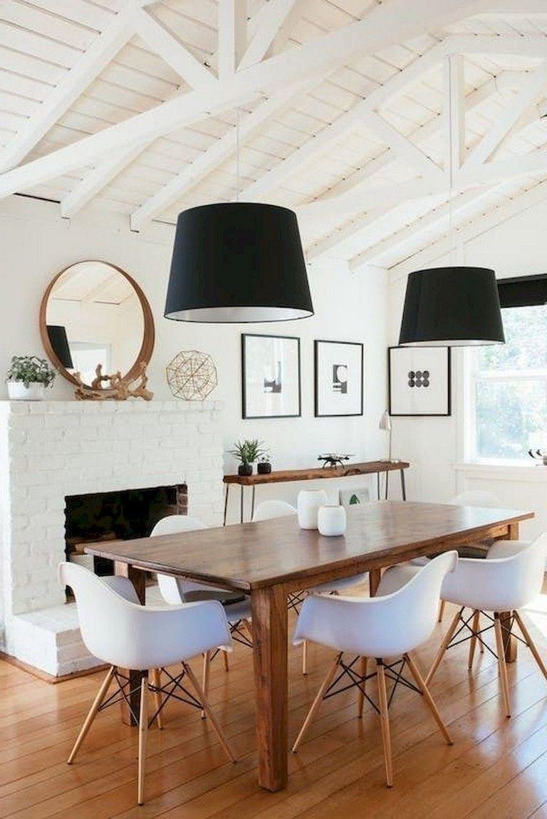 64 Smart Scandinavian Fireplace Ideas Makeover For Your Living
