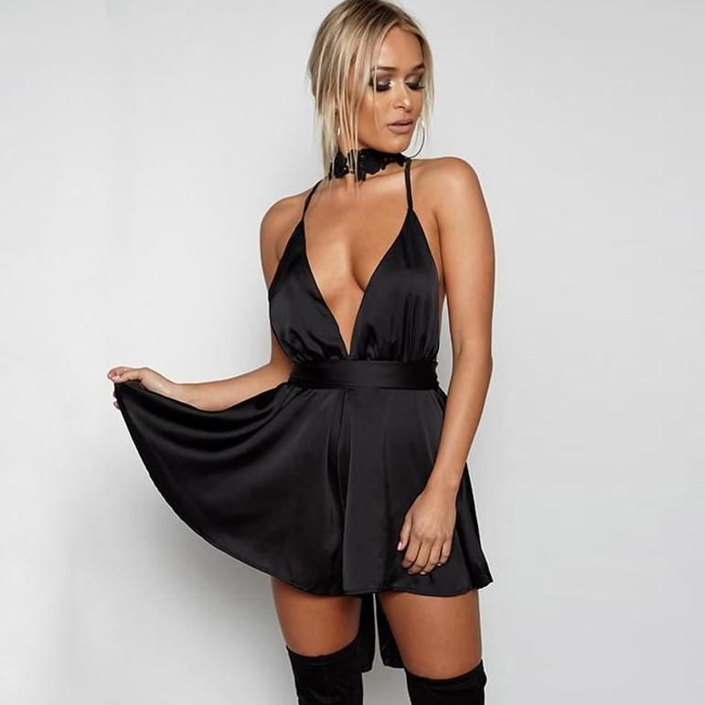 Elegant Night Party Backless Dress #shortbacklessdress