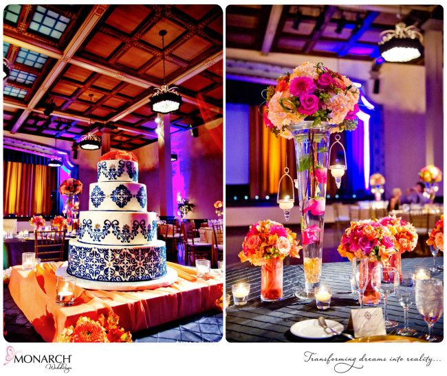 Royal Blue And Gold Wedding Decorations: Vibrant Tropical Inspired Prado Balboa Park Wedding