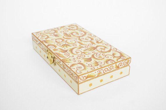 Hand Painted Jewelry Box Cash Flat Wooden Wedding Ideas G
