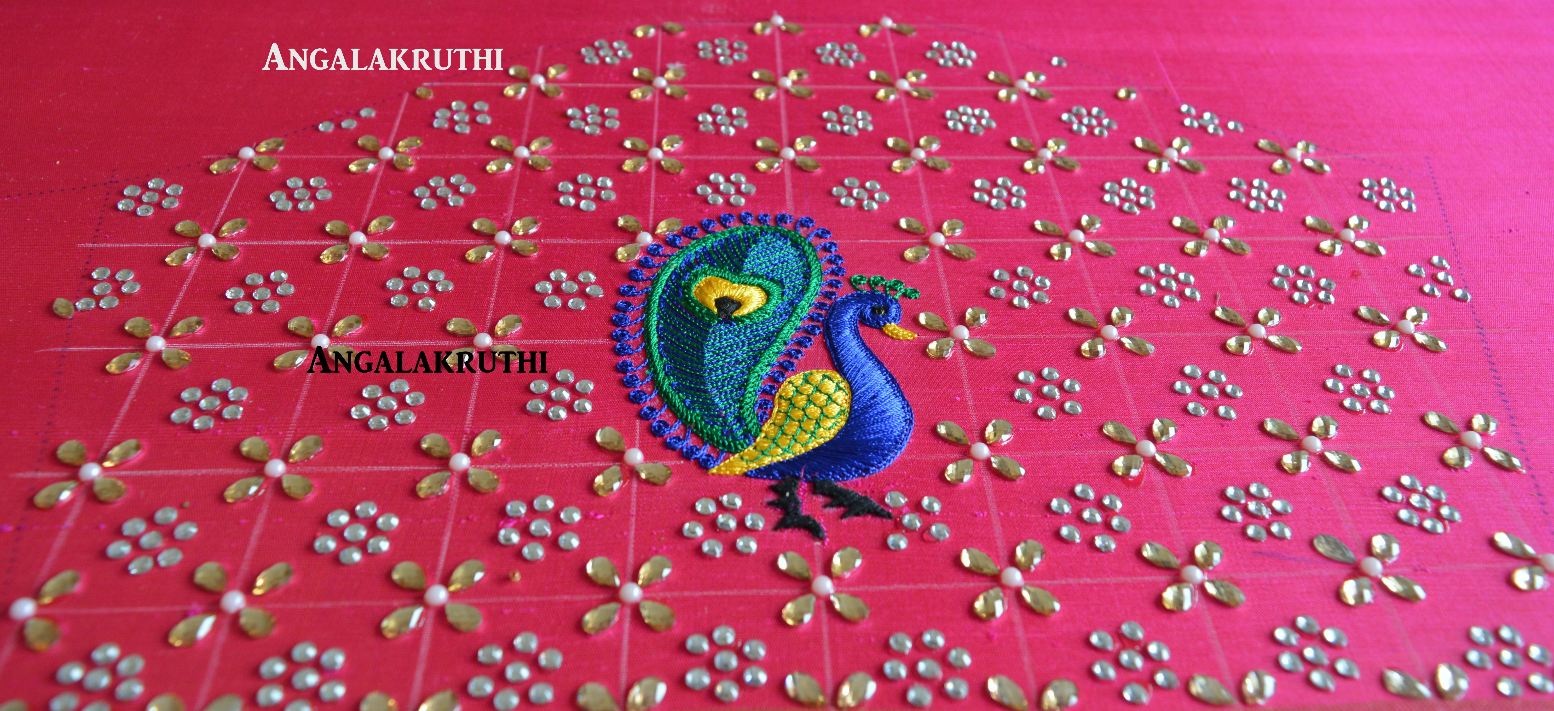 Hand Embroidery By Angalakruthi Peacock Embroidery Designs Hand